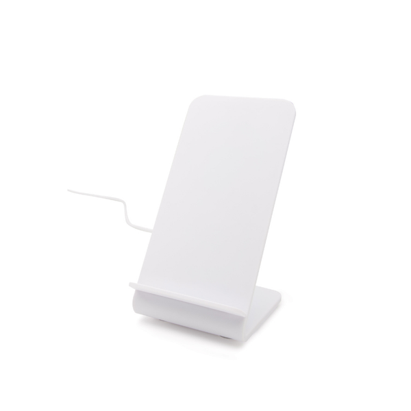 IS Gifts | Standing Wireless Charging Dock - White | Shut the Front Door