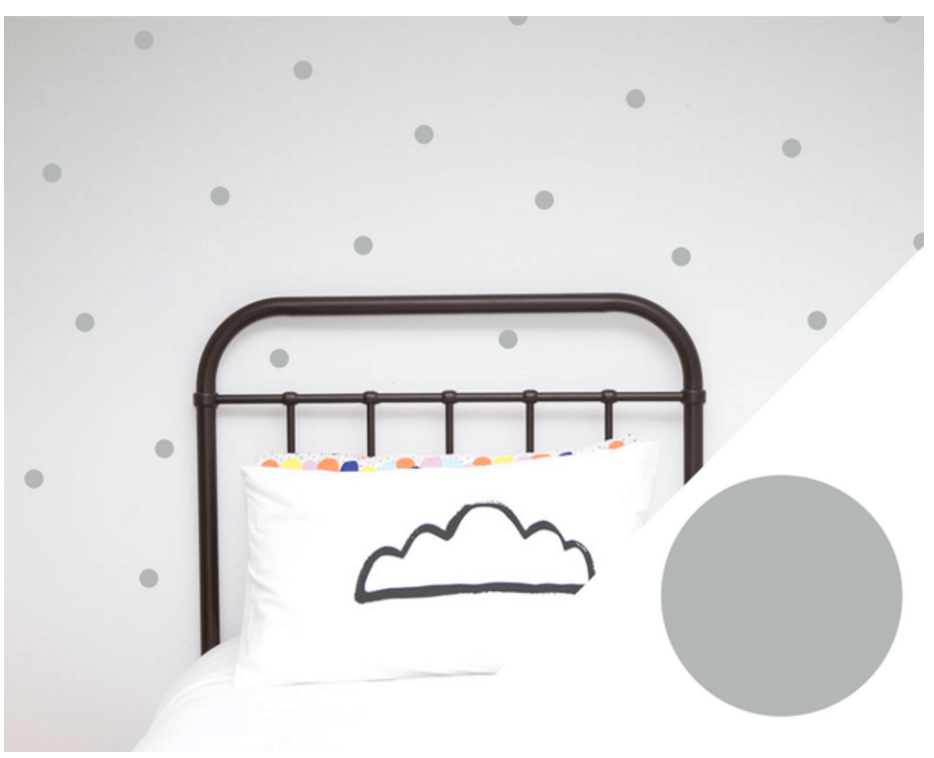 100PercentHeart | Wall Stickers Small Dots Grey | Shut the Front Door
