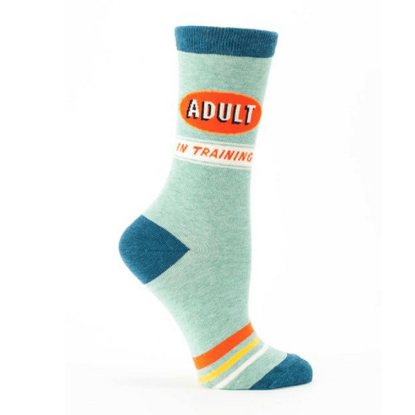 Blue Q | Socks - Adult in Training | Shut the Front Door