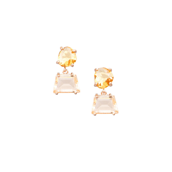 Tiger Tree | Morganite Retro Crystal Drop Earrings | Shut the Front Door