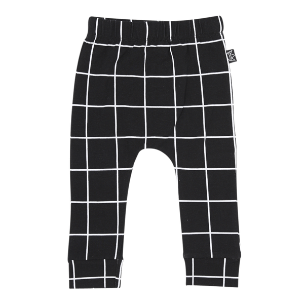 Pants Black Check