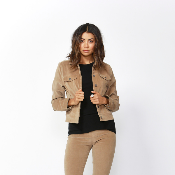 Betty Basics | Lewis Corduroy Jacket - Tan | Shut the Front Door