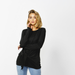 Betty Basics | Monaco Knot Top - Black | Shut the Front Door