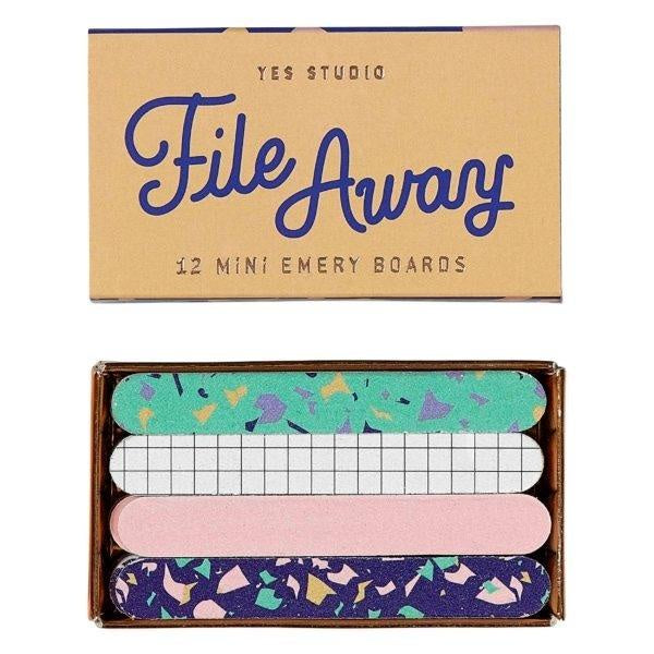 Yes Studio | Mini Emery Boards - File Away | Shut the Front Door