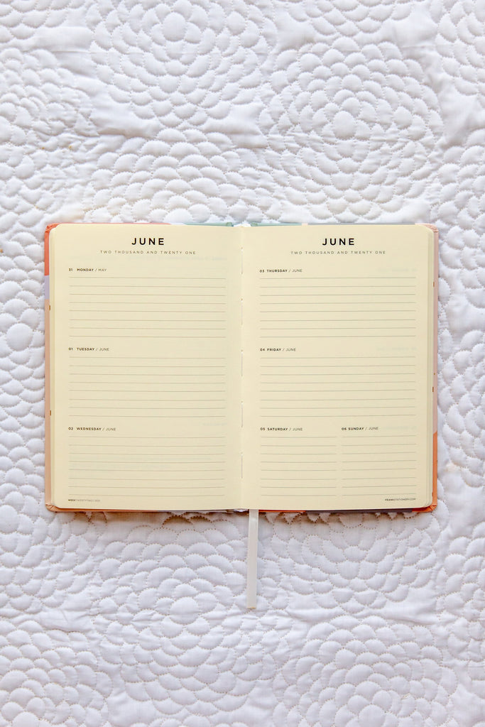 Frank | 2021 Weekly Planner - Pastel | Shut the Front Door