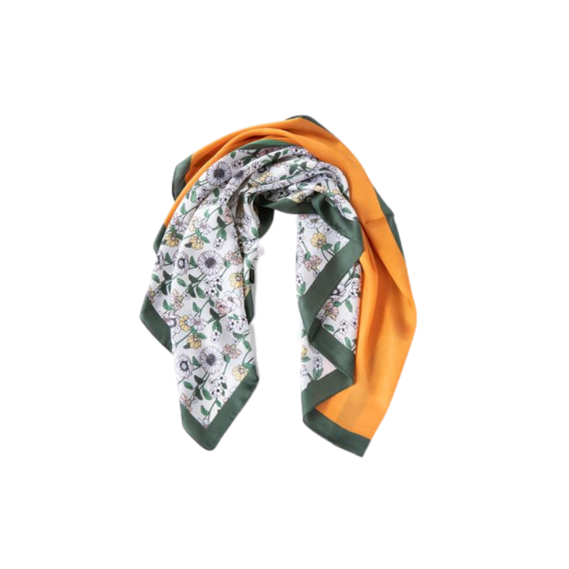 Antler NZ | Square Floral Scarf - Rust & Green | Shut the Front Door