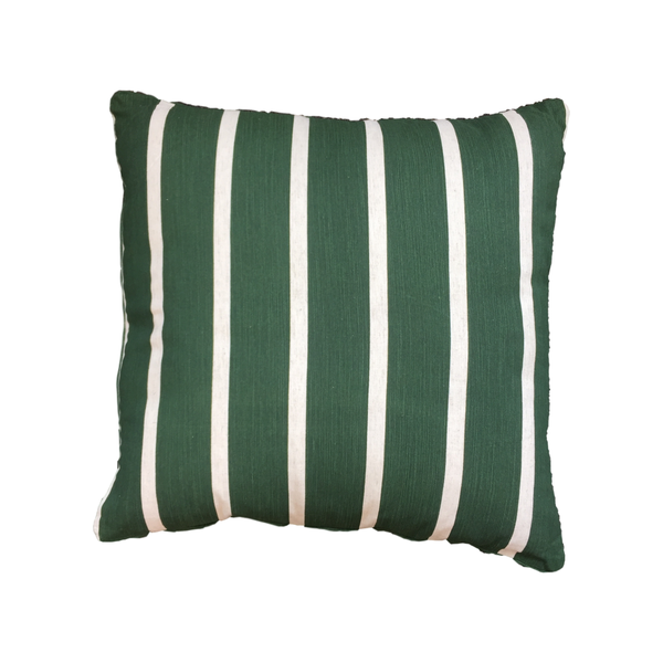 Holiday Accessories | Stripes Cushion - Thyme | Shut the Front Door