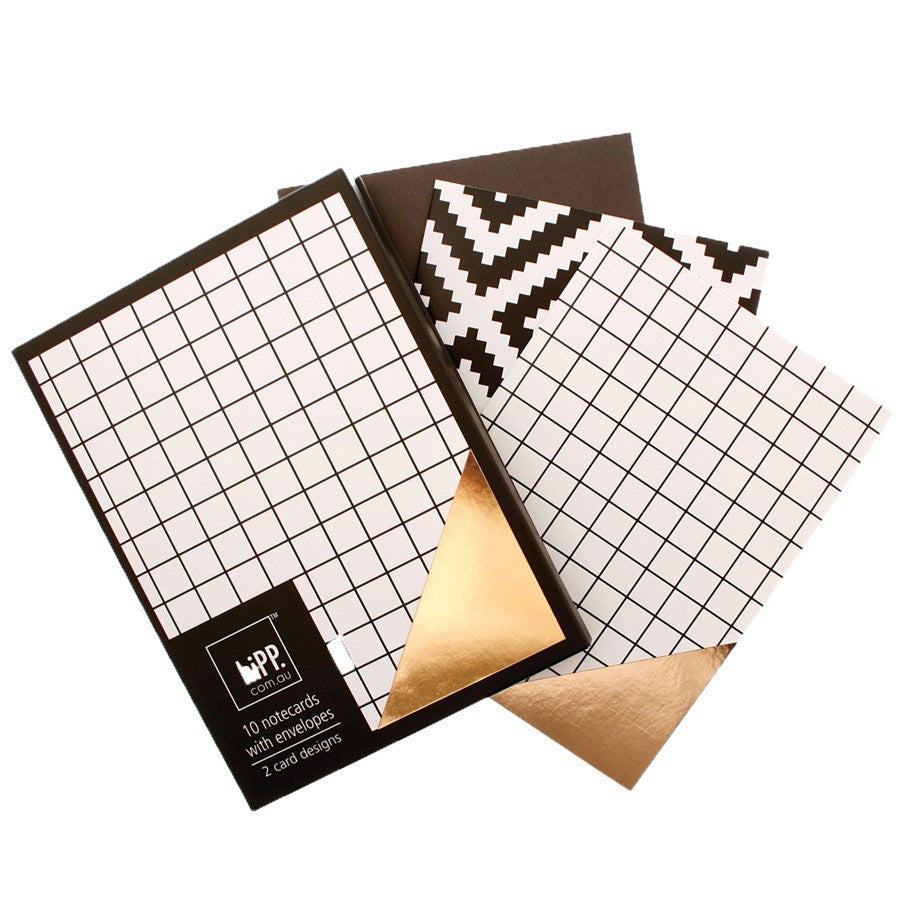hiPP | Notecards & Envelopes Off the Grid/Foil Aztec | Shut the Front Door