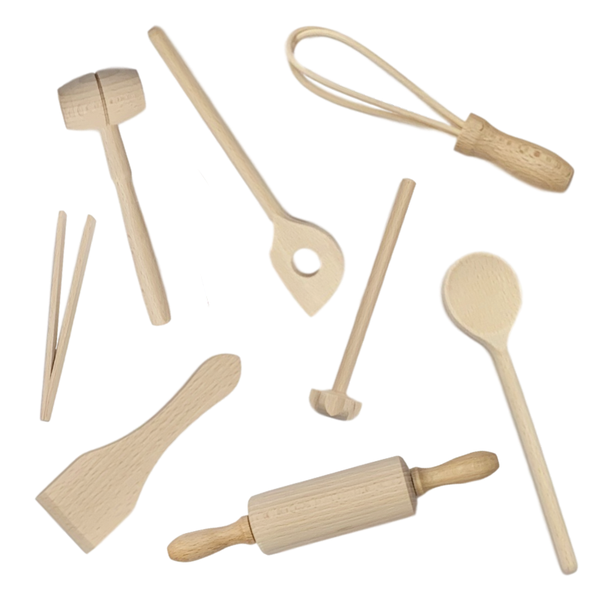 Klawe | Kids 9 Piece Baking Set - Beech | Shut the Front Door