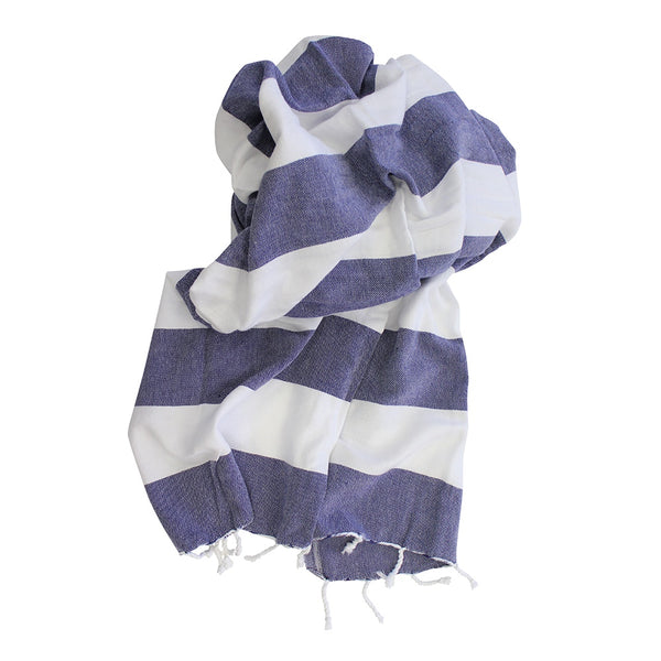 Shut The Front Door | Turkish towel Stripe Navy / White | Shut the Front Door