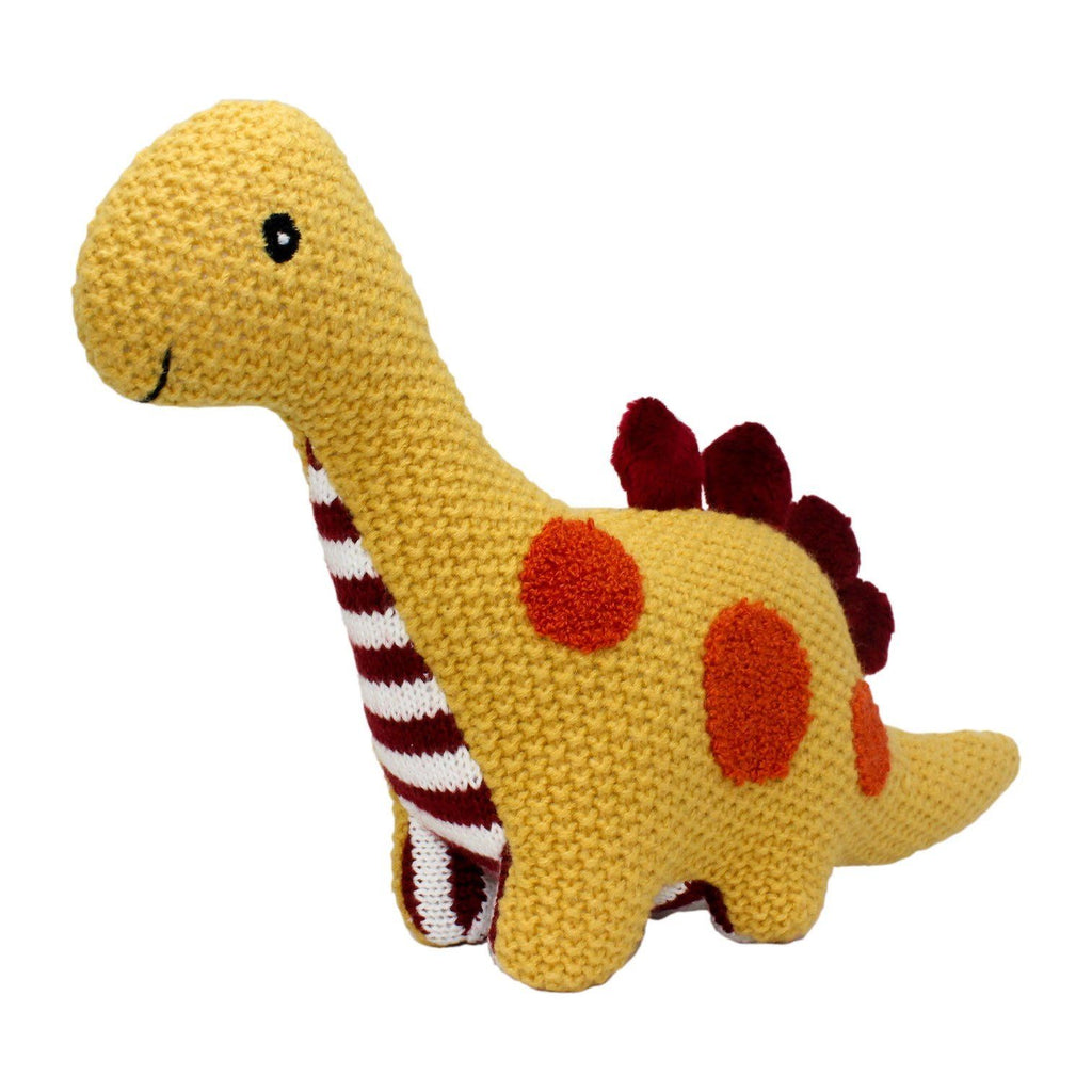 Lily and George | Riley Three Dot Knit Dinosaur | Shut the Front Door