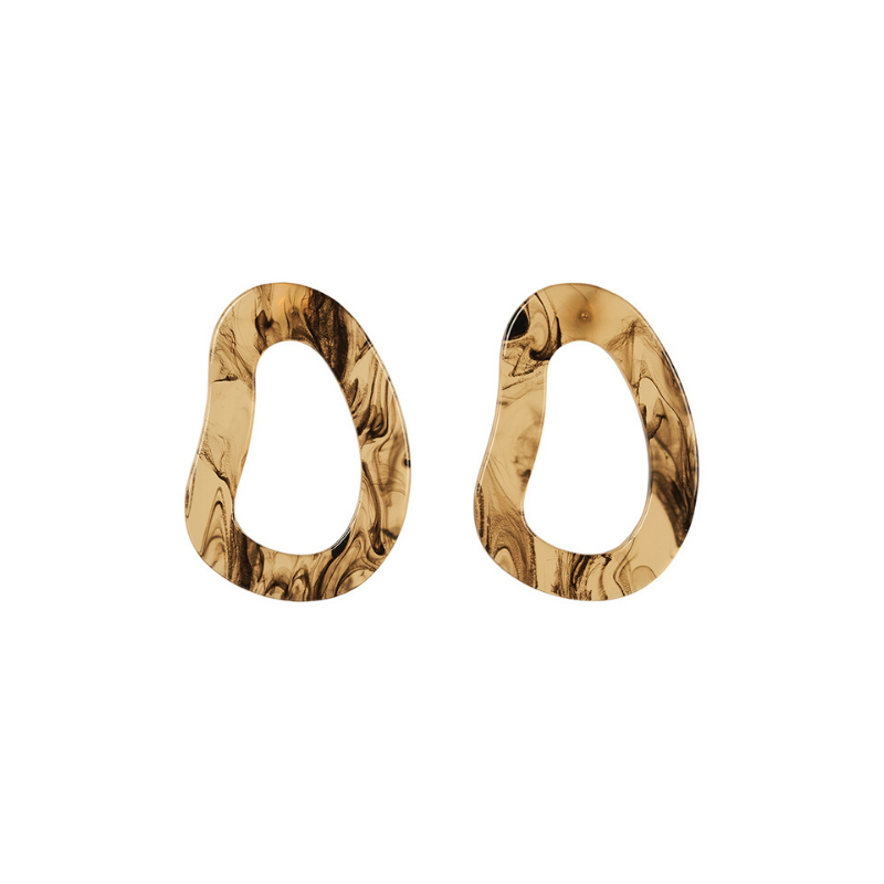 eb & ive | Mahala Oval Earring - Olive | Shut the Front Door