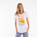 Elm Knitwear | Abstract Sunset Tee - White | Shut the Front Door