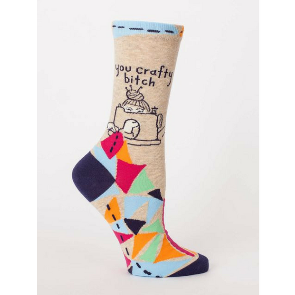 Blue Q | Socks - You Crafty Bitch | Shut the Front Door