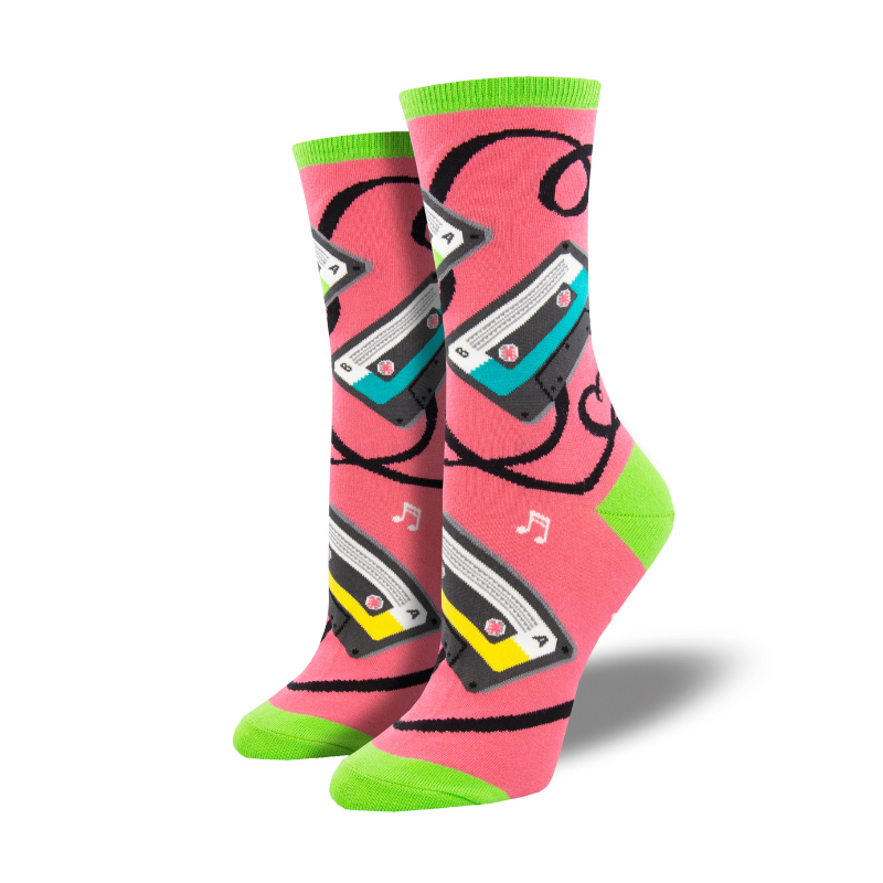 Socksmith | Women's Caught On Tape Socks - Pink | Shut the Front Door