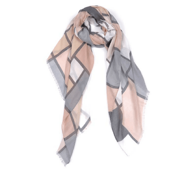 Indus Design | Womens' Scarf Bauhaus Salmon/Flint | Shut the Front Door