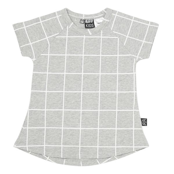 Kipp Kids | Dress Short sleeve Grey/White Check | Shut the Front Door