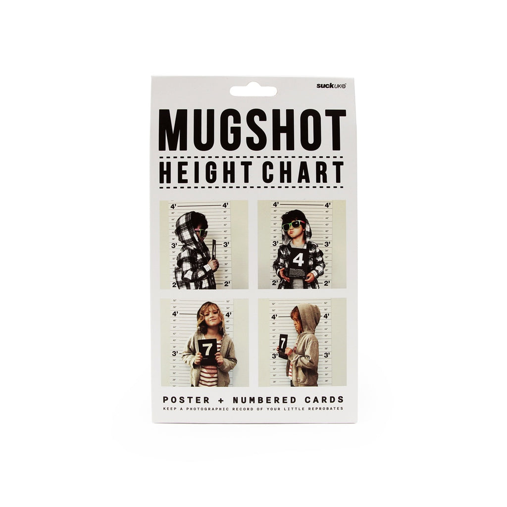 Suck Uk | Mugshot Height Chart | Shut the Front Door