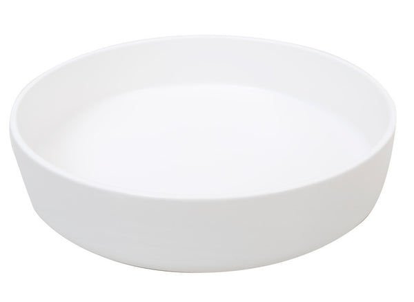 Mint Home | Sienna Shallow Serving Bowl White | Shut the Front Door