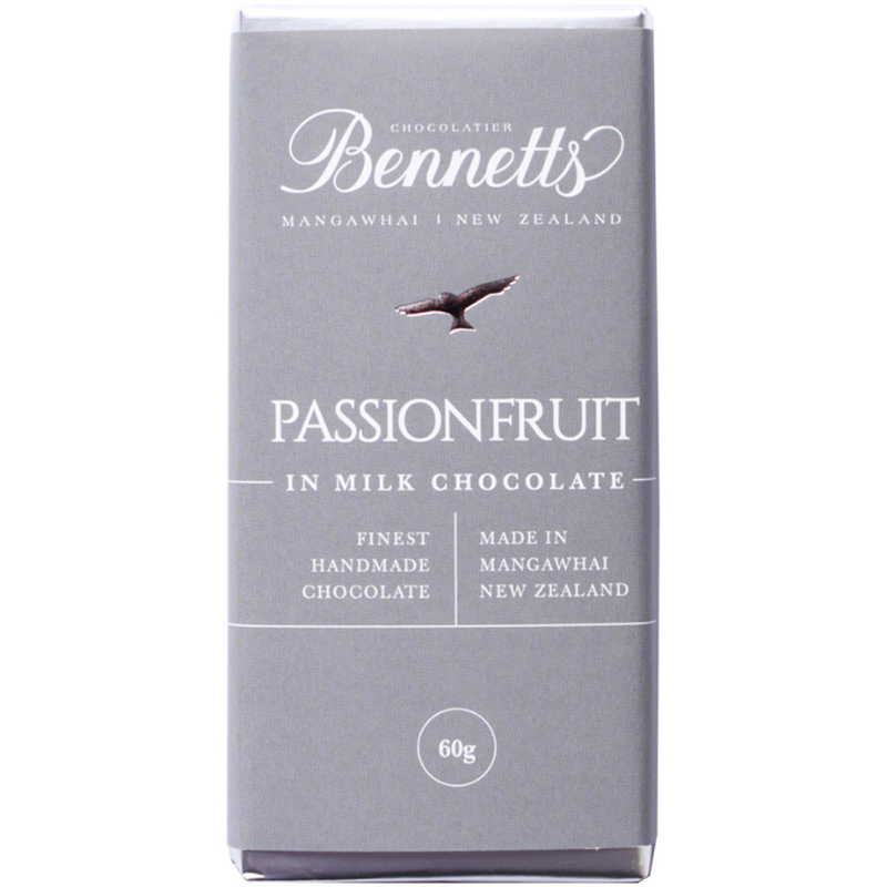 Bennetts Of Mangawhai | Bennetts 60g Bar Passionfruit | Shut the Front Door