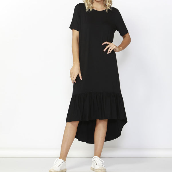 Betty Basics | Stockholm Midi Dress Black | Shut the Front Door