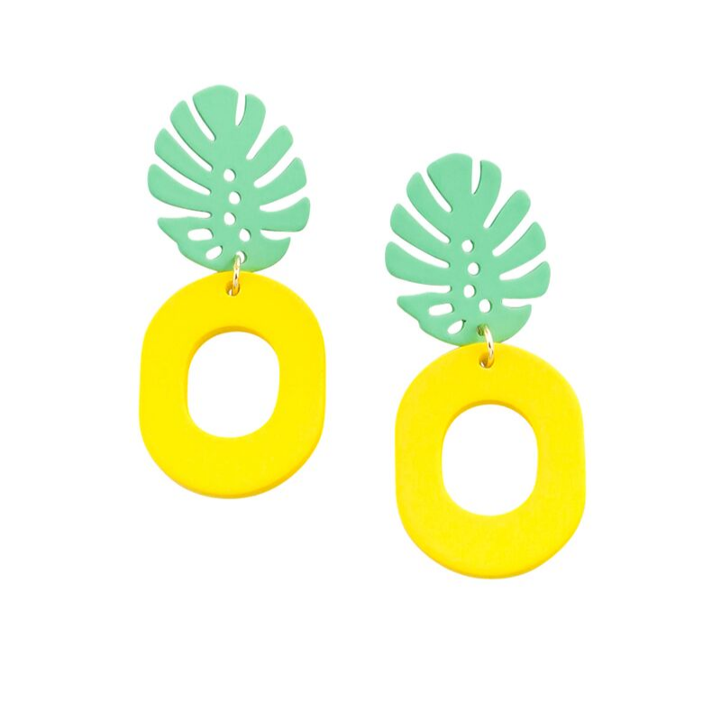 Tiger Tree | Pineapple Earrings - Yellow | Shut the Front Door