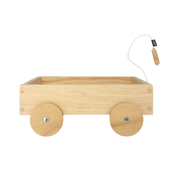 Grove and Willow | Wooden Pull Along Trolley | Shut the Front Door