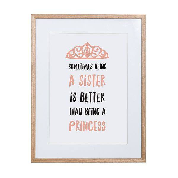 General Eclectic | Framed Print Princess A3 | Shut the Front Door