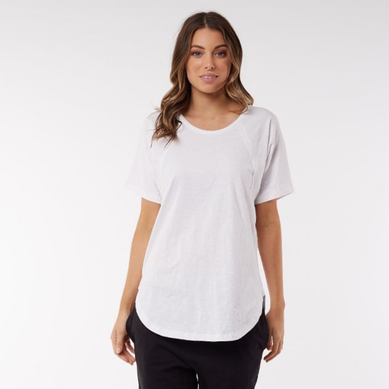 Foxwood | Mackenzie S/S Tee - White | Shut the Front Door