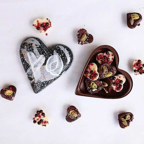 House of Chocolate | Handmade Dark Chocolate Heart for Him | Shut the Front Door