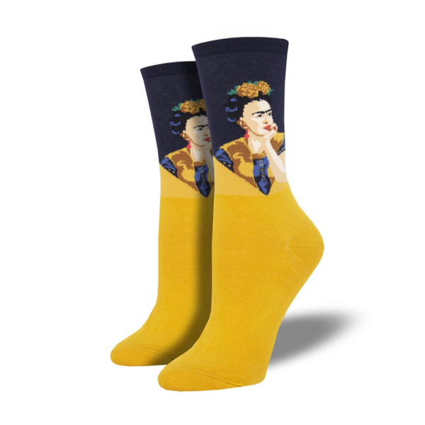 Socksmith | Women's Pensive Frida Socks - Yellow | Shut the Front Door