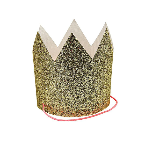 Meri Meri | Party Hats Gold Glitter Pk 8 | Shut the Front Door