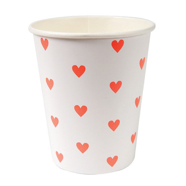 Meri Meri | Heart Paper Cups | Shut the Front Door