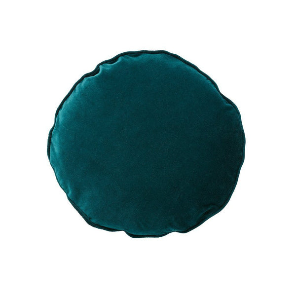 Milk & Sugar | Velvet Round Cushion EMERALD | Shut the Front Door