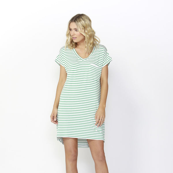 Betty Basics | Arizona Dress Emerald/White | Shut the Front Door