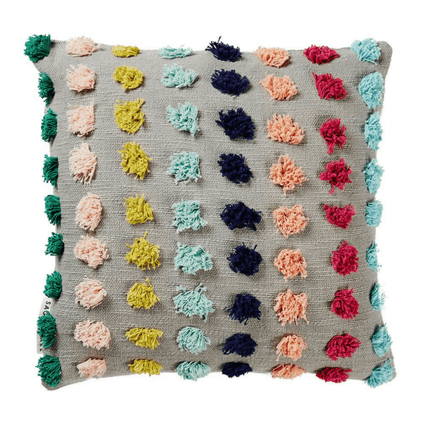SAGE & CLARE | Eva Tufted Pom Pom Cushion | Shut the Front Door
