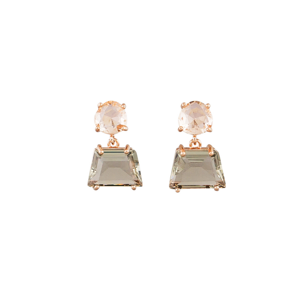 Tiger Tree | Retro Crystal Drop Earrings - Smoke | Shut the Front Door