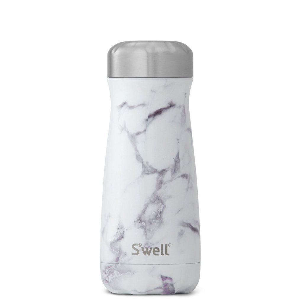 S'Well | S'Well Bottle 470ml Traveller Elements Collection White Marble | Shut the Front Door
