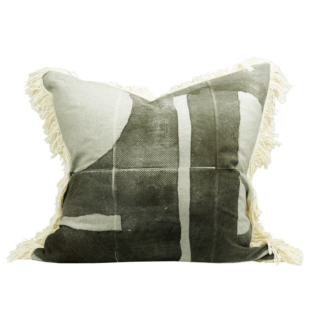 Raine & Humble | Preston Cushion - Olive | Shut the Front Door