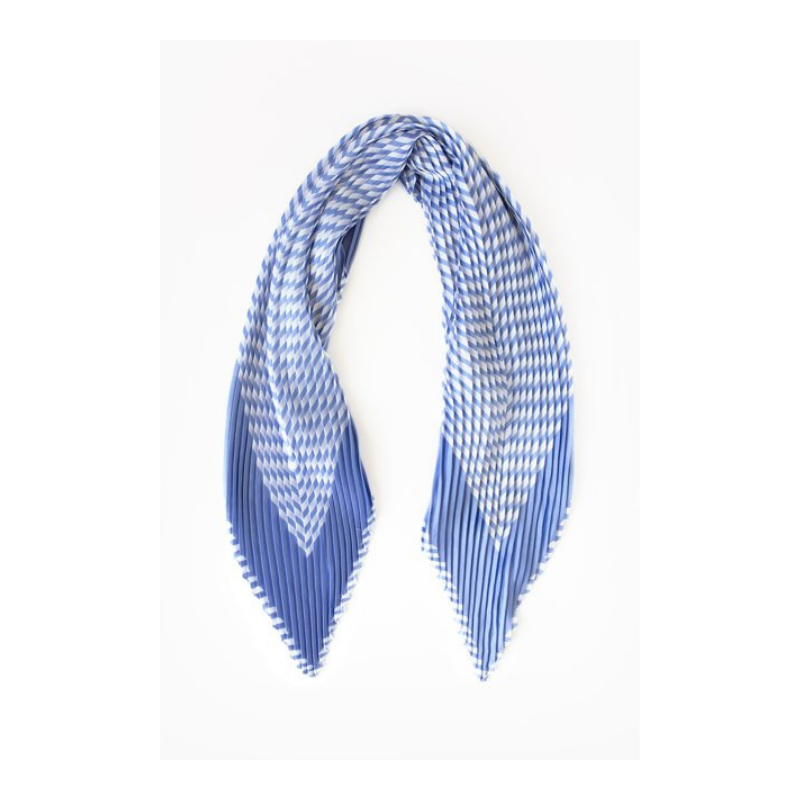 Antler NZ | Pleated Stripe Scarf - Lilac & White | Shut the Front Door