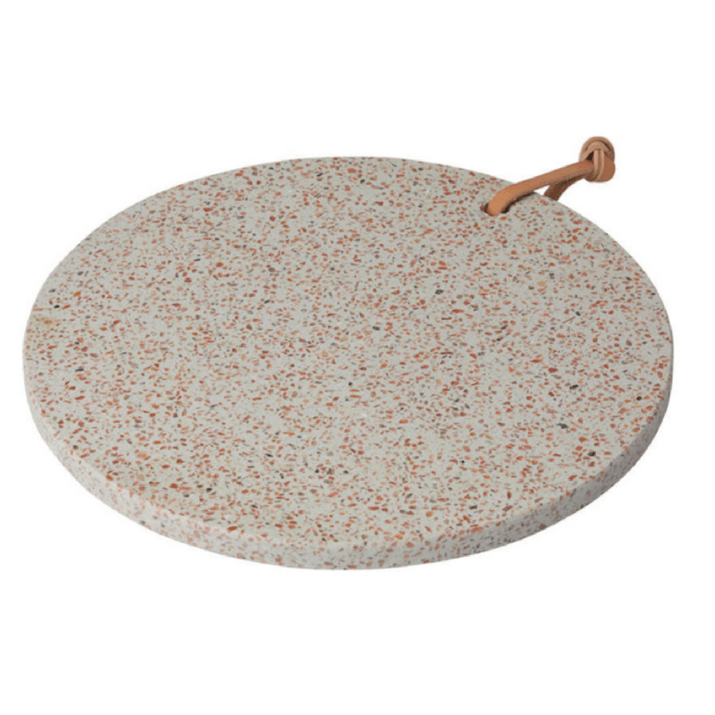 Amalfi | Terrazzo Board Round Pink 30cm | Shut the Front Door