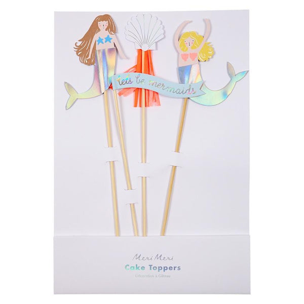 Meri Meri | Lets Be Mermaids Cake Toppers | Shut the Front Door