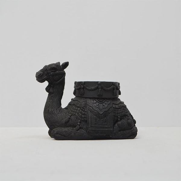 White Moose | Camel Candle Holder BLACK | Shut the Front Door