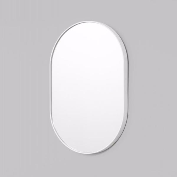 Middle of Nowhere | Bjorn Oval Mirror - White 50 x 75 cm | Shut the Front Door