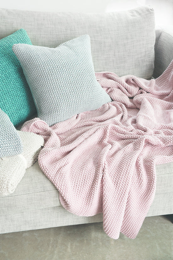 Mulberi | Milford Moss Stitch Throw - Dusky Pink | Shut the Front Door