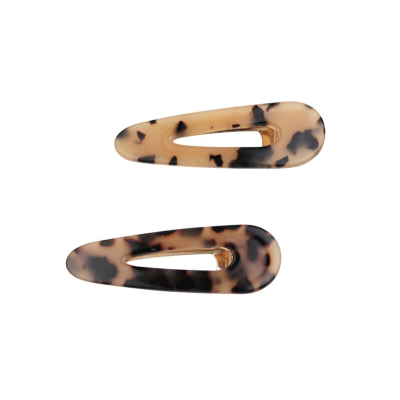 Tiger Tree | Tortoise Print Hair Clips - Twin Pack | Shut the Front Door