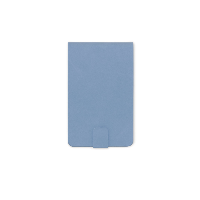 Designworks | Pocket Notepad Vegan Leather - Cornflower Blue | Shut the Front Door