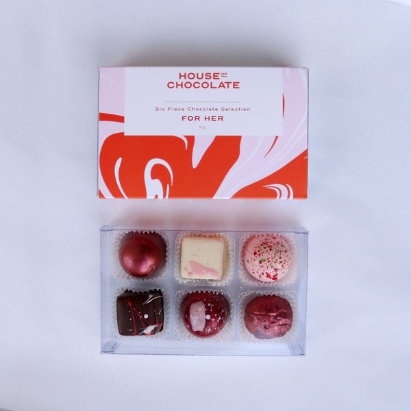 House of Chocolate | Handmade Chocolate Bon Bons - 6pc Selection for Her | Shut the Front Door