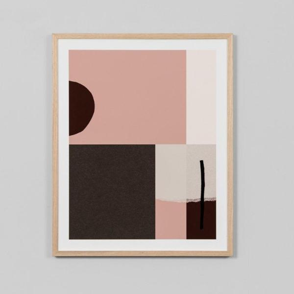 Middle of Nowhere | Framed Print - Blocks Blush | Shut the Front Door
