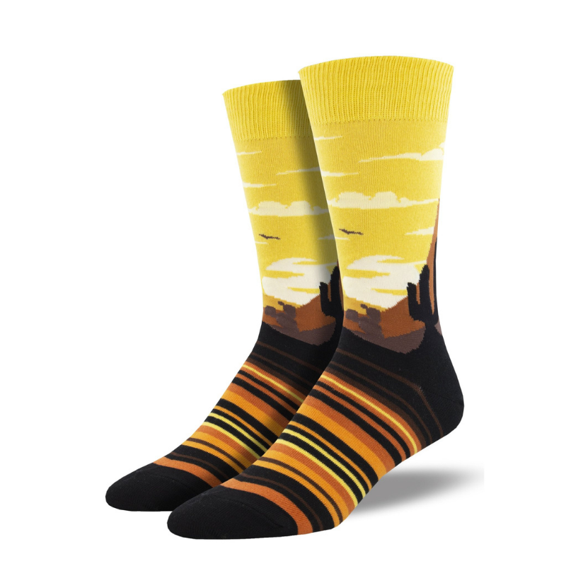 Socksmith | Men's Painted Sky Socks - Yellow | Shut the Front Door